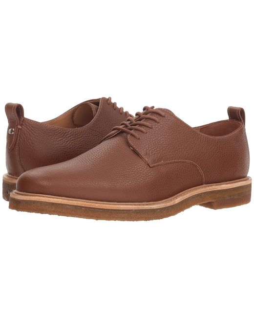 COACH - Brown Pebbled Leather Derby W/ Crepe Sole (black) Men's Shoes for Men - Lyst