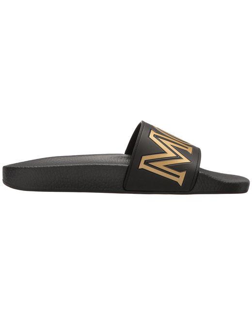 b59bac79397a ... MCM - Logo Rubber Slide Sandal (black) Men s Slide Shoes for Men ...