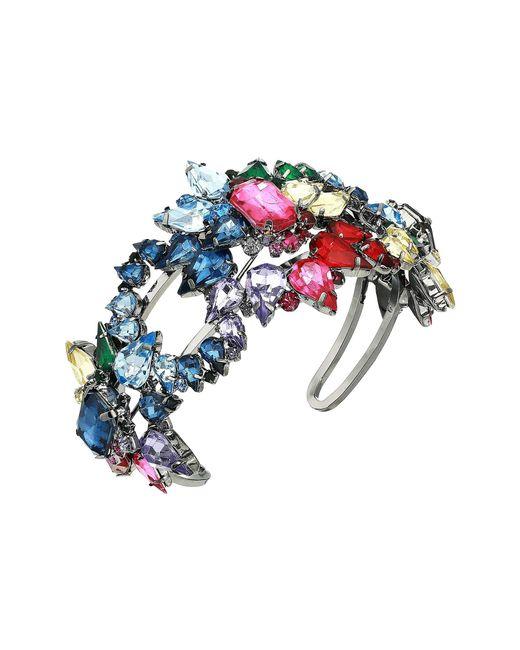 Steve Madden - Metallic Rainbow Rhinestone Star Cluster Cuff Bracelet (multi/gunmetal-tone) Bracelet - Lyst