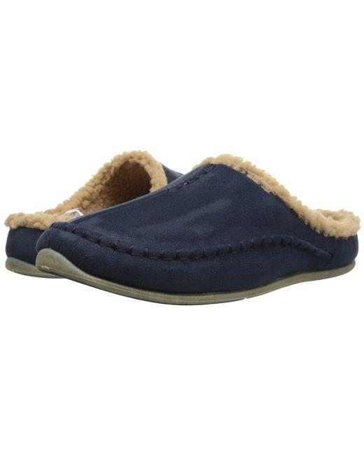 c81cbe7b9e7542 Deer Stags - Blue Nordic Slipper (black Microsuede) Men s Slippers for Men  ...