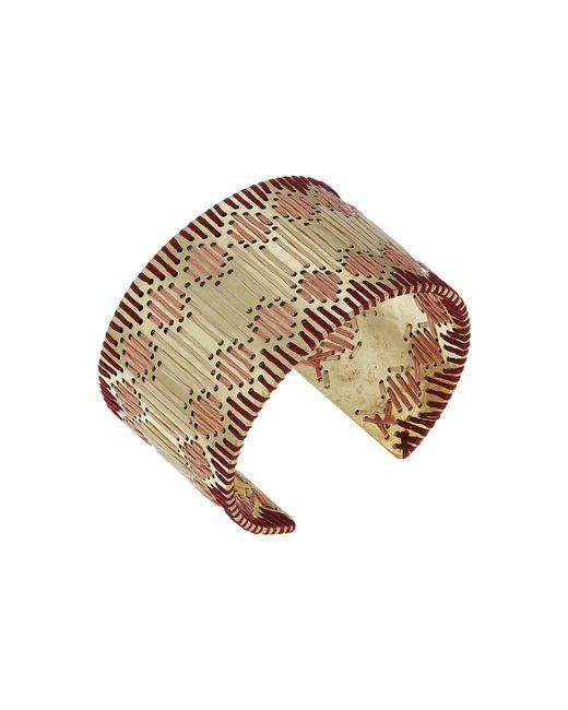 Lucky Brand - Metallic Threaded Statement Cuff Bracelet - Lyst