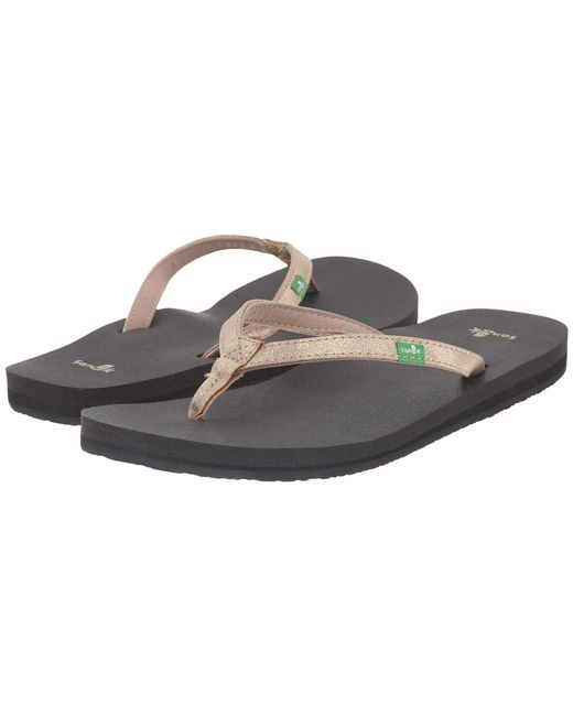 Sanuk - Black Yoga Joy Metallic (pewter) Women's Sandals - Lyst