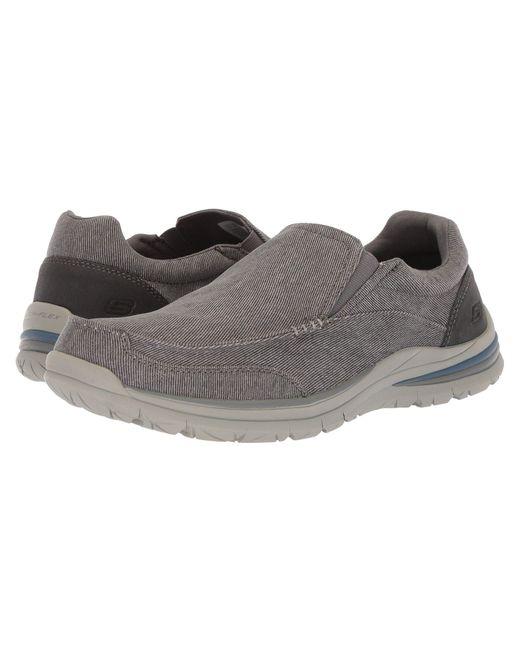 12023de26321 Skechers - Gray Classic Fit Superior 2.0 - Vorado (black) Men s Slip On  Shoes ...