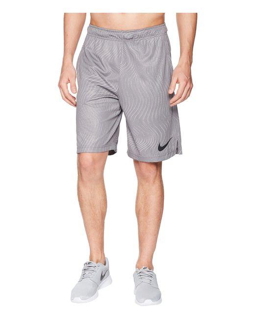 0eafc66b5c Nike - Gray Dry Shorts Su18 Aop (gunsmoke/atmosphere Grey/black) Men's ...