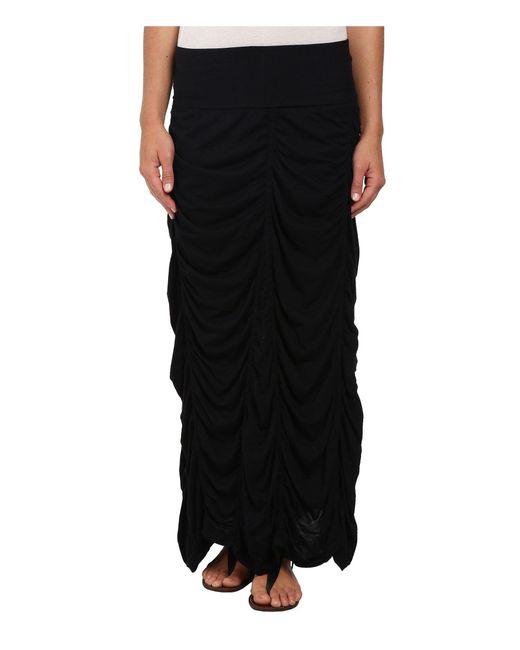 XCVI | Black Jersey Peasant Skirt | Lyst