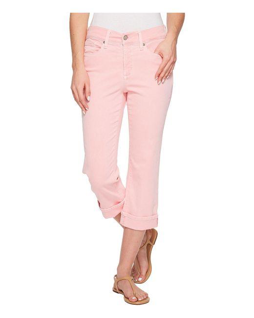 NYDJ - Pink Marilyn Crop Cuff In Primrose (primrose) Women's Jeans - Lyst