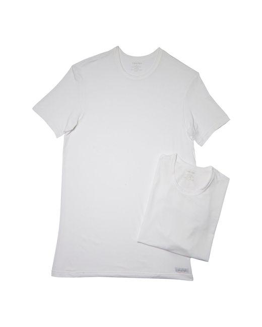 CALVIN KLEIN 205W39NYC - White 2-pack Body Modal Crew Neck Tee for Men - Lyst