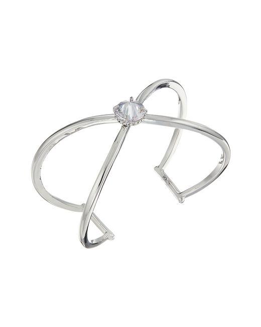 Vince Camuto - Metallic Cz Rivoli X Cuff Bracelet (gold) Bracelet - Lyst