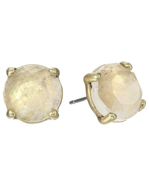 Lucky Brand - Metallic Rock Crystal Stud Earring (gold) Earring - Lyst
