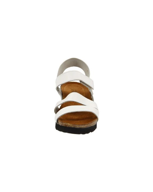 a707a0af3533 ... Naot - White Kayla (black Luster Leather) Women s Sandals - Lyst