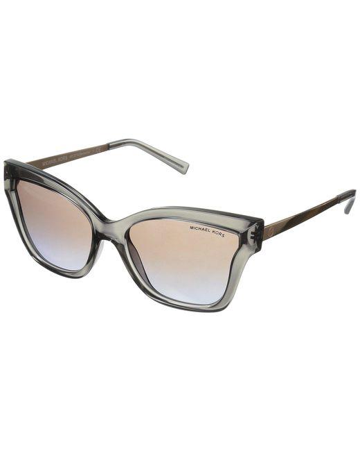 Michael Kors - Multicolor Barbados 0mk2072 56mm (grey Transparent Injected/brown Purple Flash) Fashion Sunglasses - Lyst