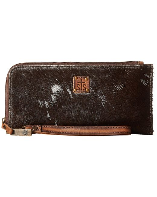 STS Ranchwear - Brown The Classic Clutch (cowhide) Handbags - Lyst