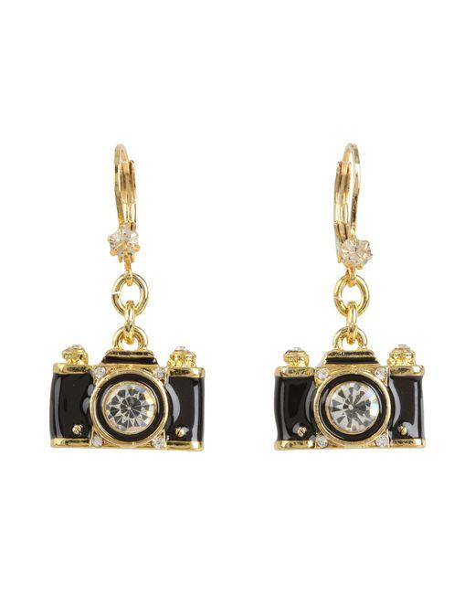 Betsey Johnson | Metallic Royal Engagement Camera Stud Earrings | Lyst