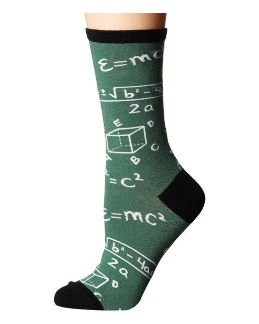 Socksmith - Math (green 1) Women's Crew Cut Socks Shoes - Lyst