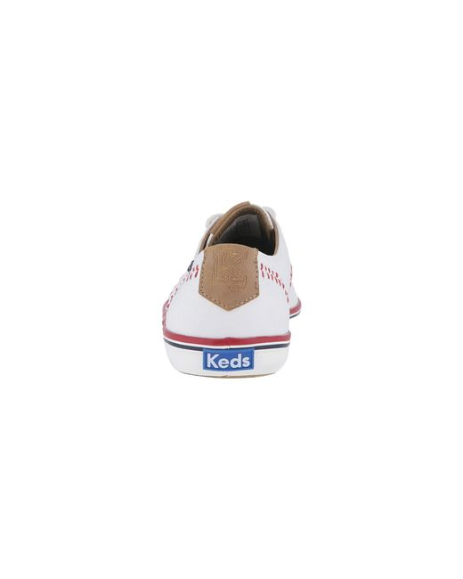 4a9457022f21 ... Lyst Keds - Champion Leather Pennant (white Leather) Women s Lace Up  Casual Shoes ...