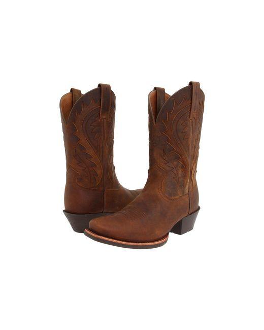 Ariat - Brown Legend Phoenix (black Deertan) Cowboy Boots for Men - Lyst