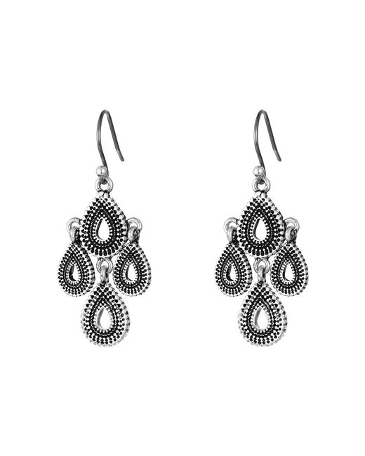 Lucky Brand - Metallic Blue Moon Moveable Chandelier Earrings - Lyst