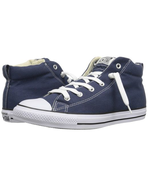 Converse - Blue Chuck Taylor® All Star® Street Core Canvas Mid - Lyst
