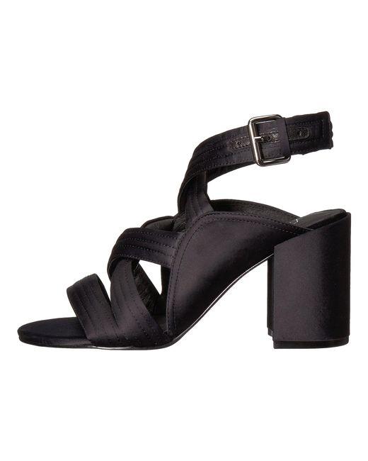 cb4f832a84e ... Sol Sana - Gabby Heel (black Satin) High Heels - Lyst ...