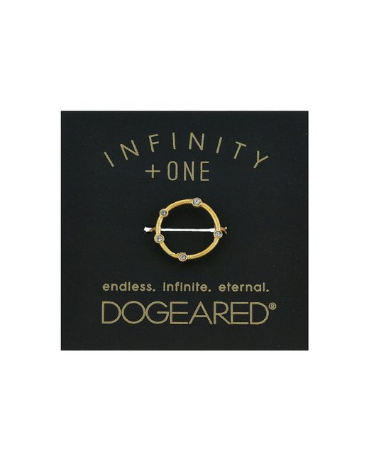 Dogeared - Metallic Infinity + One, Halo W/ Crystal Ring (gold Dipped) Ring - Lyst