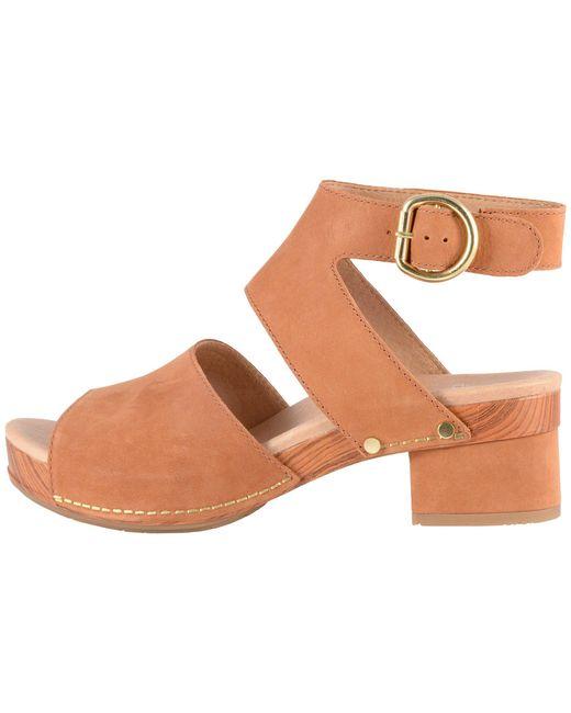 6143fb844c4 ... Dansko - Brown Minka (camel Milled Nubuck) Women s Toe Open Shoes ...