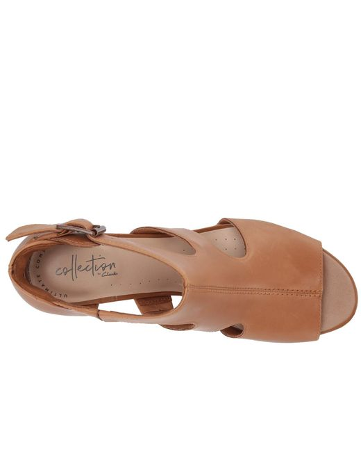 304cf042a360 ... Clarks - Brown Deva Heidi (navy Leather) High Heels - Lyst ...