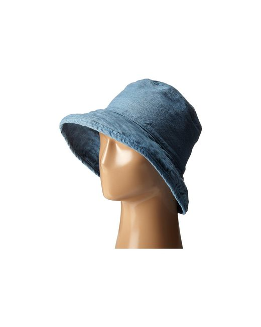 Hat Attack - Blue Washed Cotton Crusher (black) Caps - Lyst