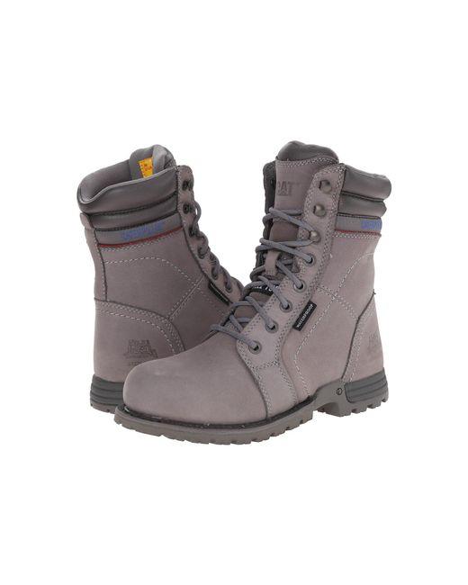 Caterpillar - Gray Echo Waterproof Steel Toe Work Boot - Lyst