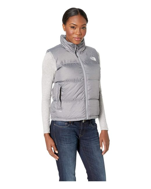 ... The North Face - Gray 1996 Retro Nuptse Vest (tumbleweed Green) Women s  Vest ... cb6671179