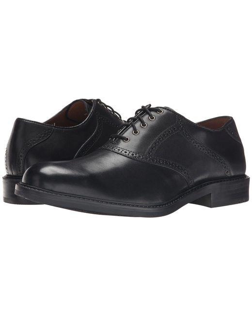 Johnston & Murphy - Black Tabor Saddle Dress Oxford for Men - Lyst