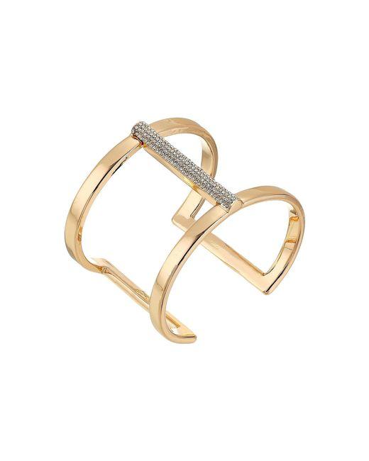 Vince Camuto | Metallic Rose Gold Pave T Cuff Bracelet | Lyst