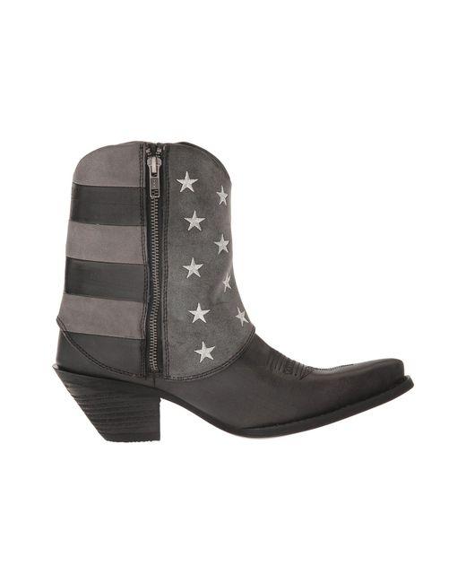 999151f0f4 ... Durango - Gray Crush Fold Down Flag Boot (black charcoal grey) Cowboy  ...