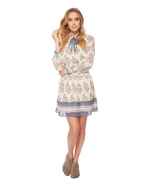 Lucky Brand - Natural Drop Waist Printed Dress - Lyst