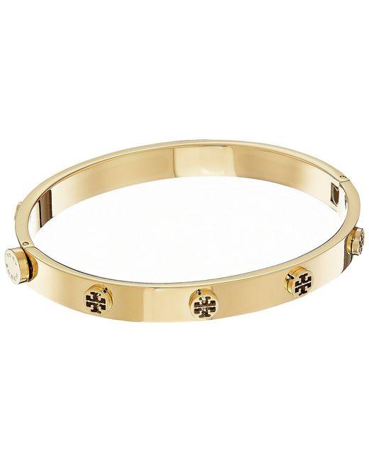 Tory Burch - Multicolor Logo Stud Hinge Bracelet (rose Gold) Bracelet - Lyst