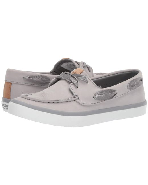 526bbcfcfa3f Lyst - Sperry Top-Sider Sailor Boat Leather (grey) Women s Shoes in Gray