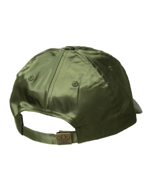 aeef2320c5294 ... Adidas Originals - Green Originals Relaxed Satin Strapback (maroon) Caps  - Lyst
