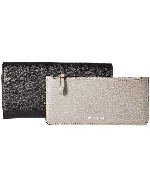 bb2df4a23eab ... MICHAEL Michael Kors - Gray Large Wallet On A Chain (black pearl Grey)  ...