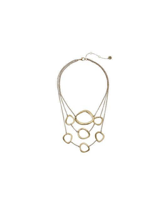 "The Sak | Metallic Metal Link Frontal Necklace 16"" | Lyst"