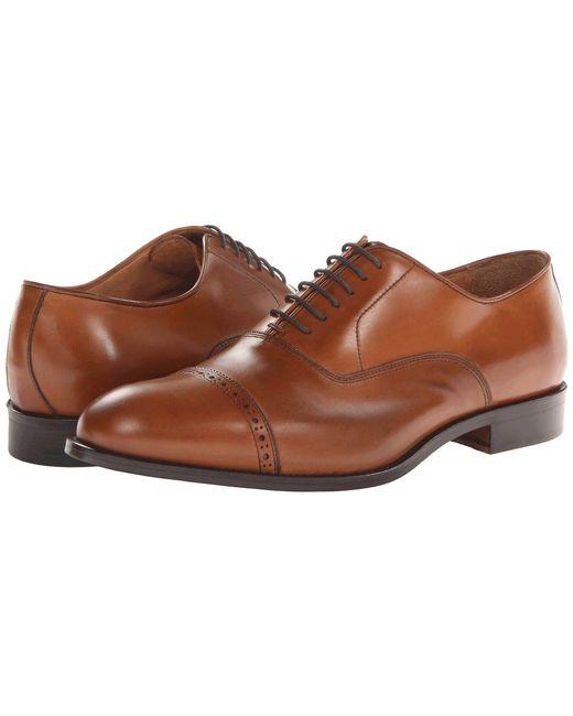 Massimo Matteo - Brown 6-eye Bal Cap Toe (black) Men's Lace Up Cap Toe Shoes for Men - Lyst
