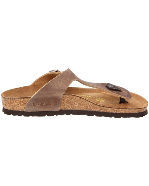 5d0c981601d ... Birkenstock - Brown Gizeh Oiled Leather (tobacco Oiled Leather) Women s  Sandals ...