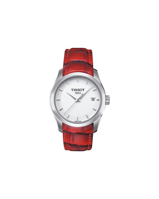 Tissot - Red Couturier Lady - T0352101601101 - Lyst