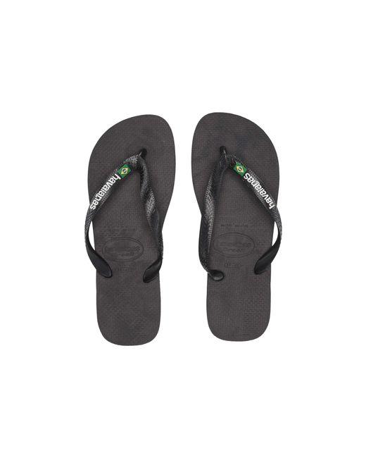 4e094fc23a6f4 Havaianas - Brasil Logo Unisex Flip Flops (black black) Women s Sandals ...