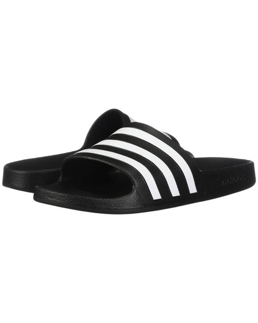 low priced a18ef d2a69 Adidas - Adilette Aqua (footwear Whitecore Blackfootwear White) Womens  Shoes ...