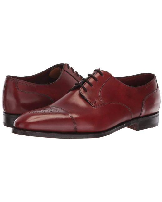 John Lobb - Red Wren Cap Toe Oxford (black) Men's Lace Up Casual Shoes for Men - Lyst