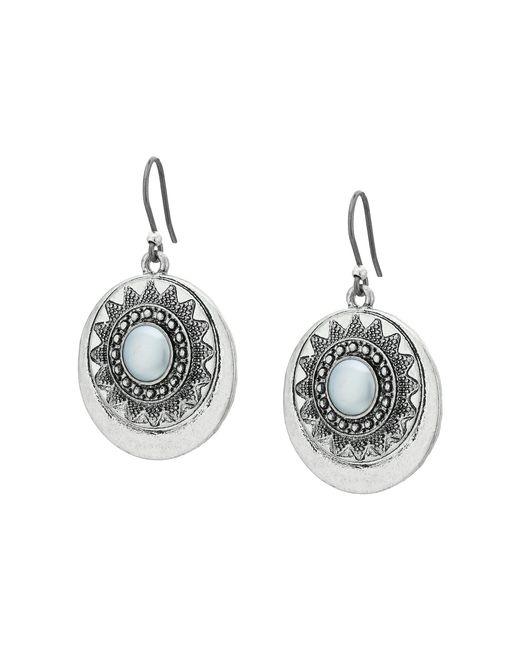 Lucky Brand - Gray Bali Earrings (medium Grey) Earring - Lyst
