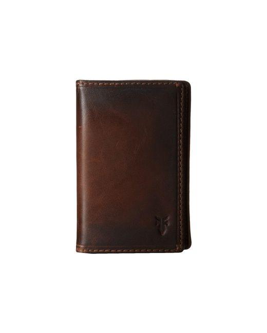Frye - Brown Logan Small Wallet (cognac Antique) Wallet Handbags for Men - Lyst