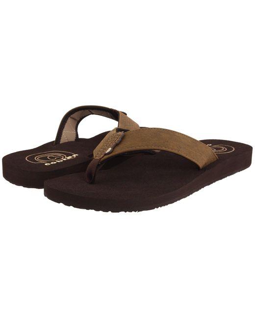 Cobian - Brown Floater (carbon) Men's Sandals for Men - Lyst