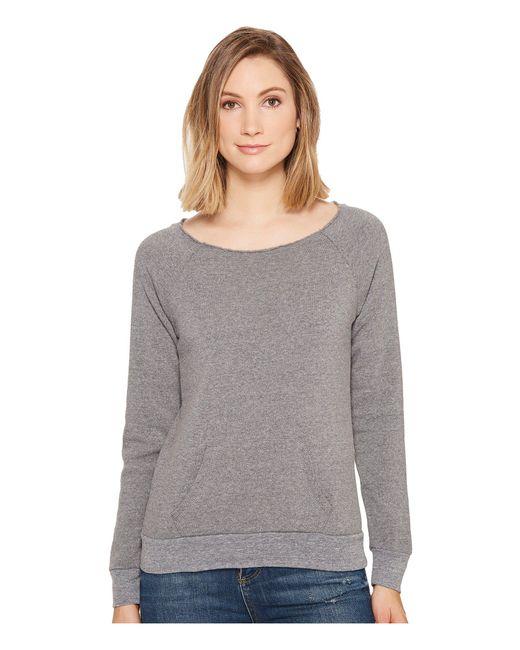 Alternative Apparel - Gray The Maniac Eco-fleece Sweatshirt (black) Women's Sweatshirt - Lyst