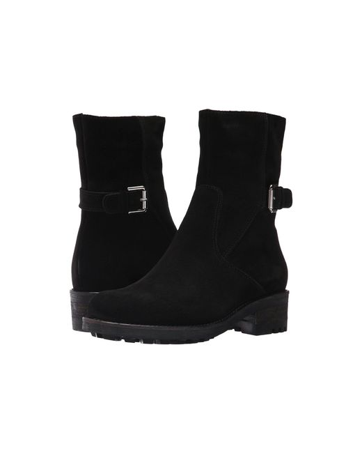 La Canadienne - Black Camilla (stone Oiled Suede) Women's Zip Boots - Lyst