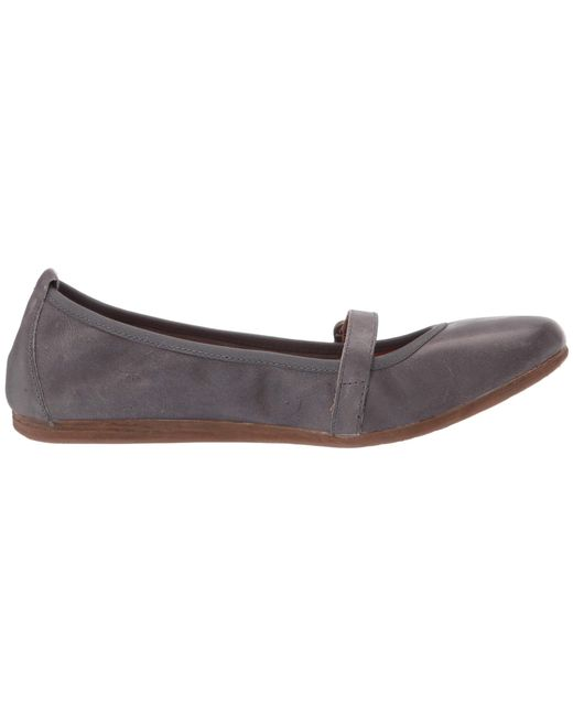 5f7601d86b66 Lyst - Born Curlew (black Full Grain Leather) Women s Flat Shoes in Gray